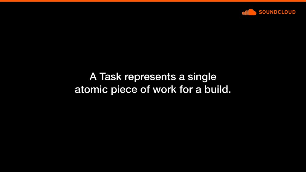 A Task represents a single atomic piece of work...