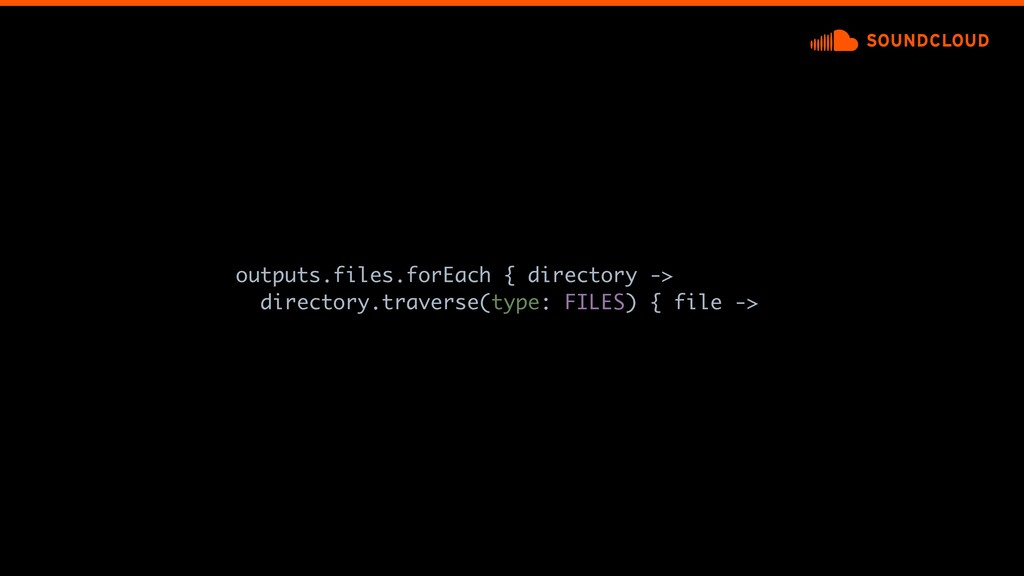 outputs.files.forEach {adirectory -> directory....