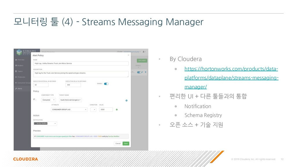© 2019 Cloudera, Inc. All rights reserved. 12 모...
