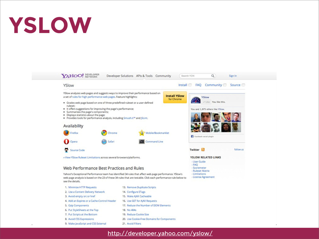 YSLOW http://developer.yahoo.com/yslow/