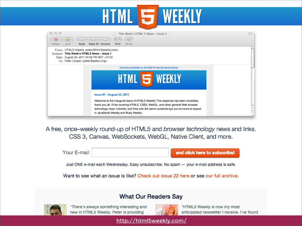 http://html5weekly.com/