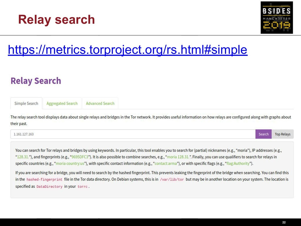 Relay search 22 https://metrics.torproject.org/...