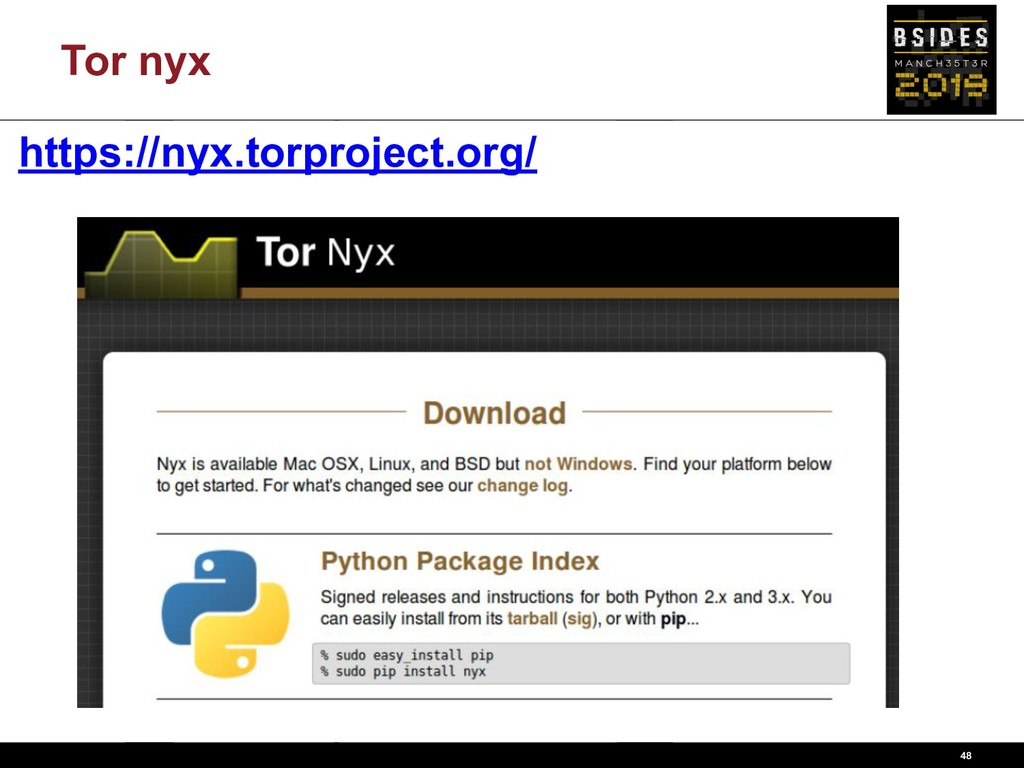 Tor nyx 48 https://nyx.torproject.org/