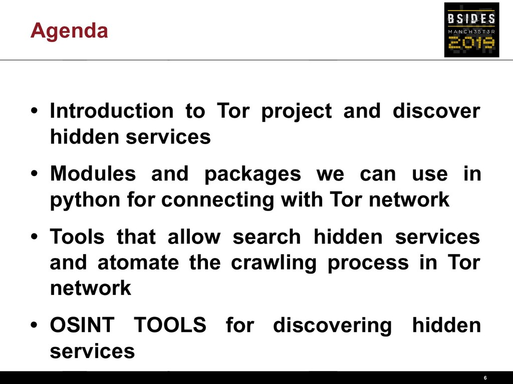 Agenda • Introduction to Tor project and discov...