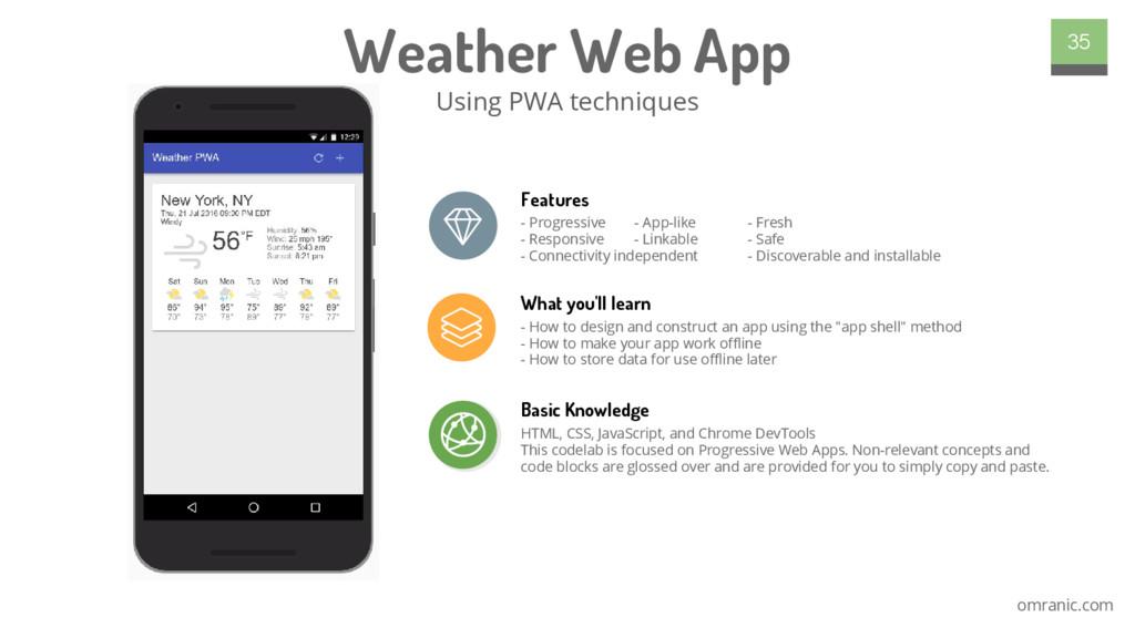 omranic.com Weather Web App Using PWA technique...
