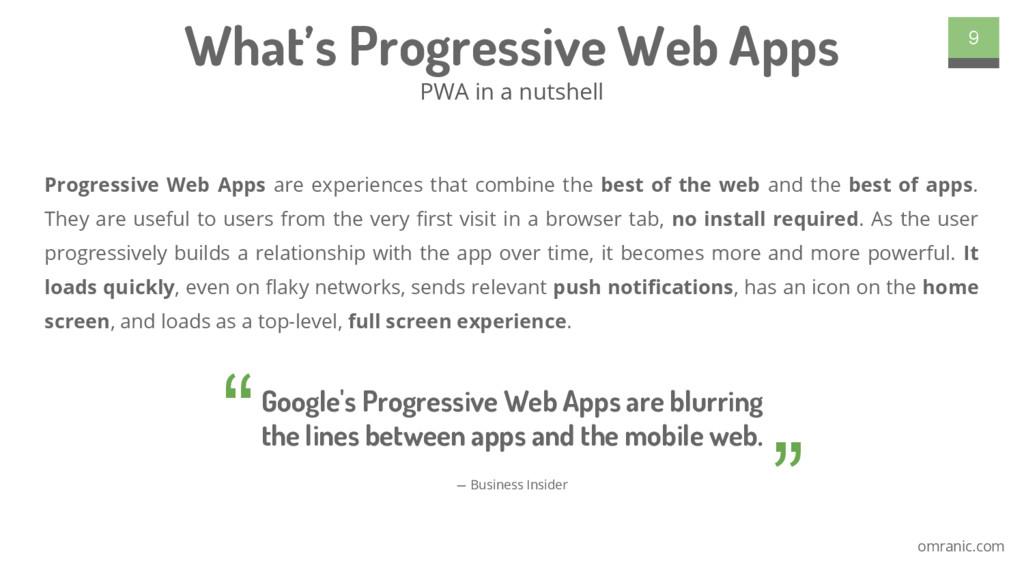 omranic.com Progressive Web Apps are experience...