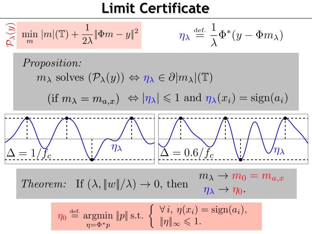= 1/fc = 0.6/fc Limit Certificate min m |m|(T) ...