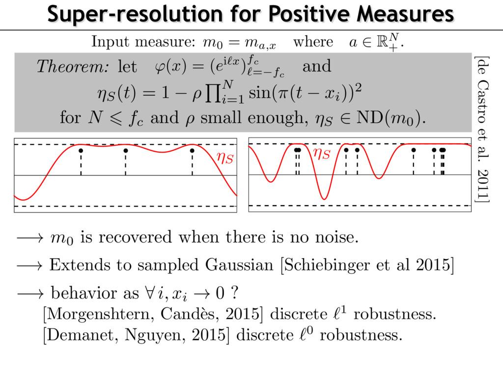 Super-resolution for Positive Measures Theorem:...