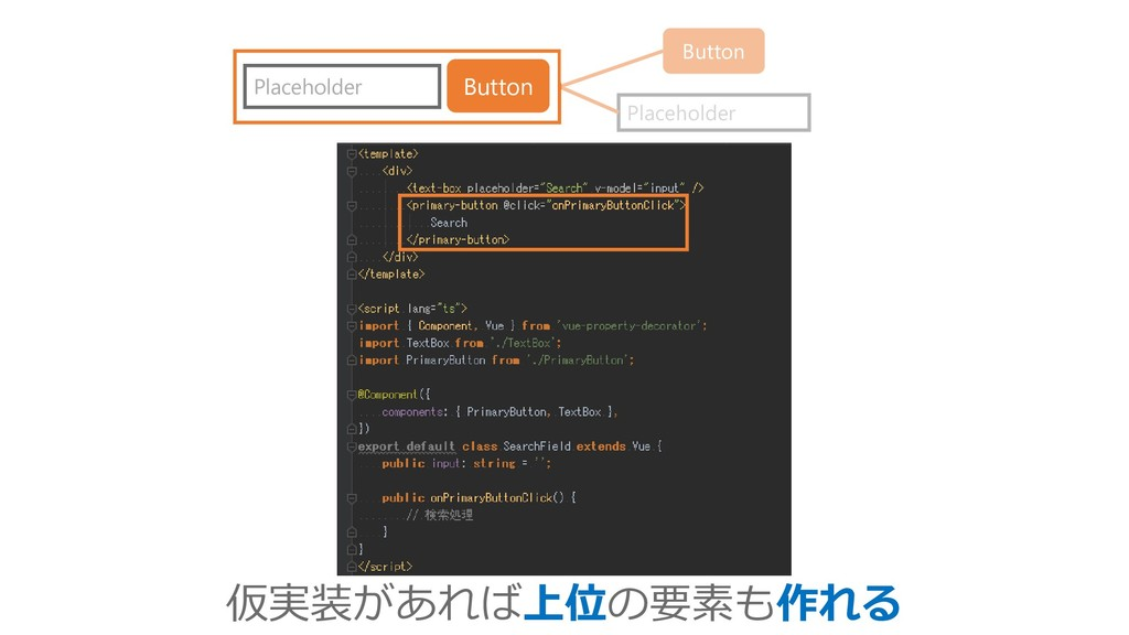 Placeholder Button Placeholder Button 仮実装があれば上位...
