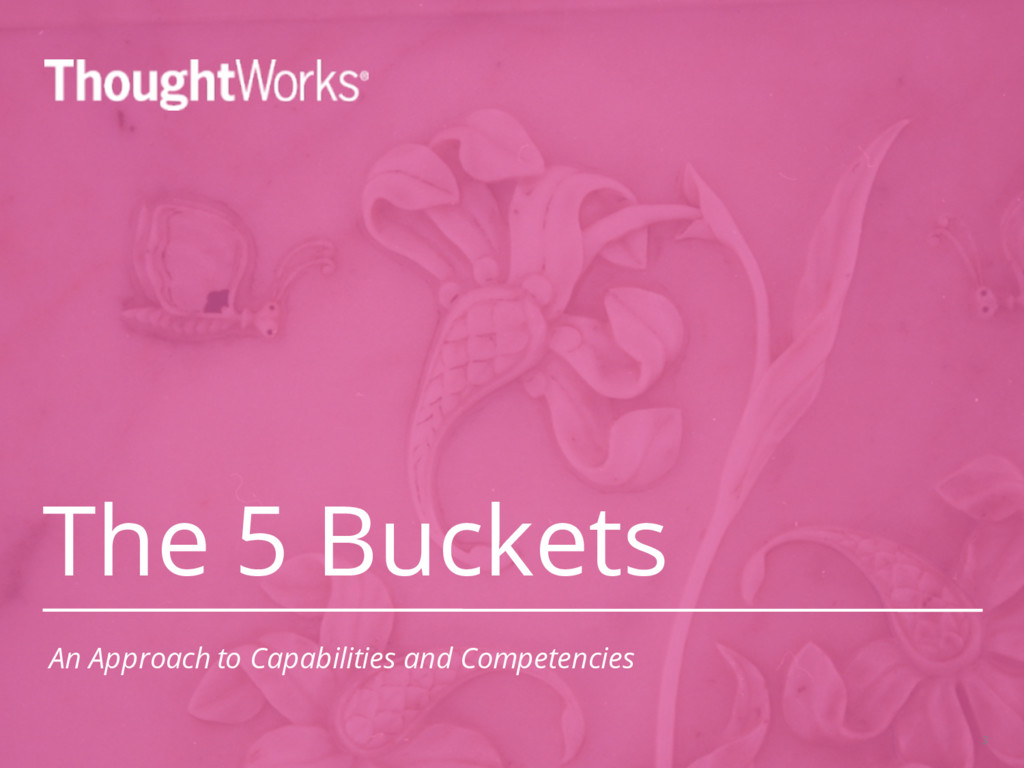 The 5 Buckets 3 An Approach to Capabilities and...