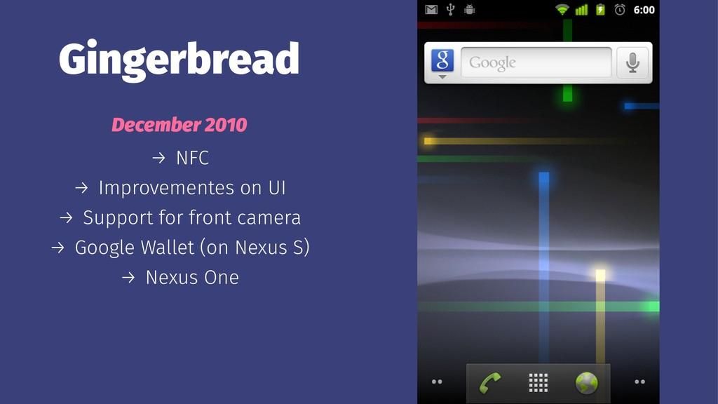 Gingerbread December 2010 → NFC → Improvementes...
