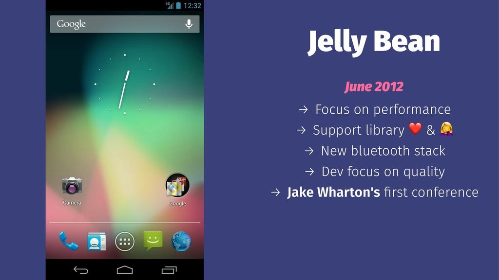Jelly Bean June 2012 → Focus on performance → S...