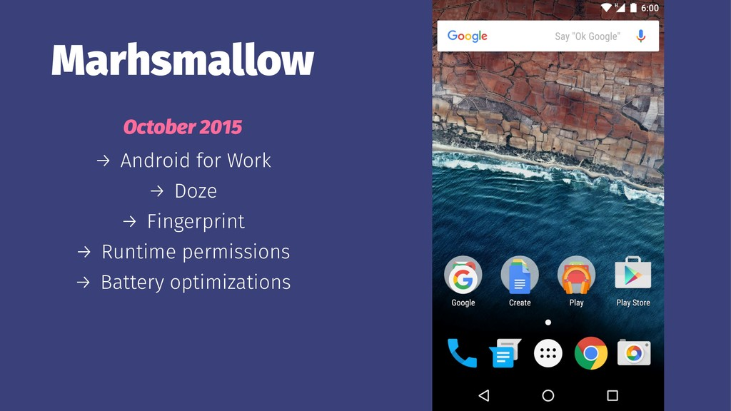 Marhsmallow October 2015 → Android for Work → D...