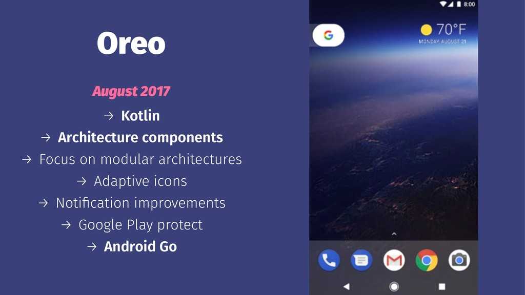 Oreo August 2017 → Kotlin → Architecture compon...