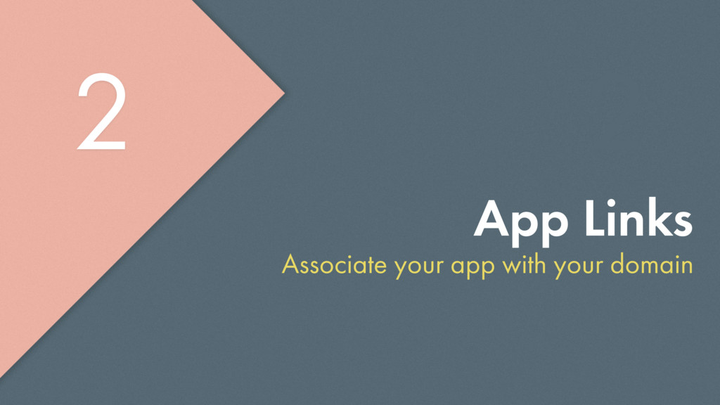 App Links Associate your app with your domain 2...