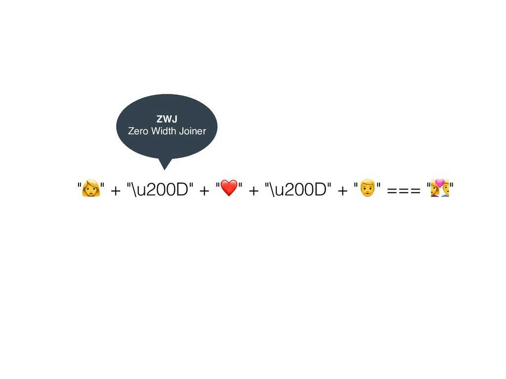 """$"" + ""\u200D"" + ""❤"" + ""\u200D"" + ""&"" === ""'"" Z..."