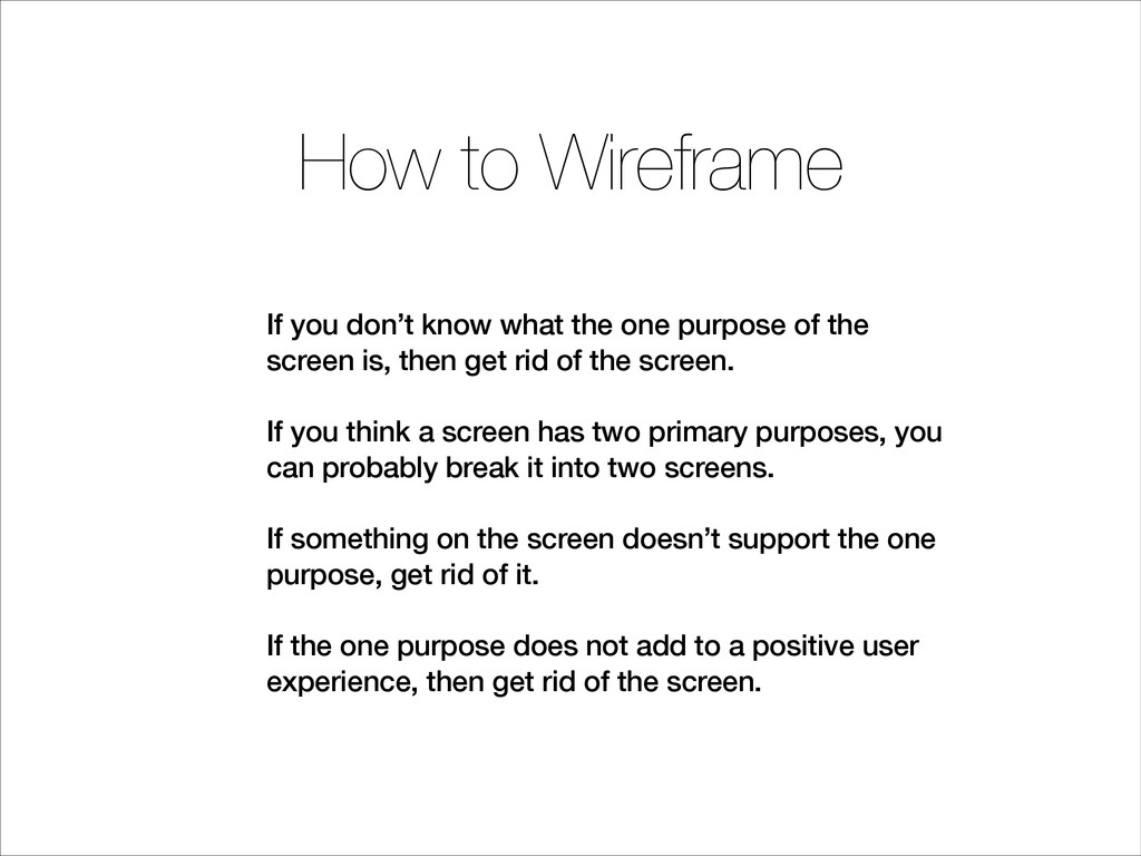 If you don't know what the one purpose of the s...