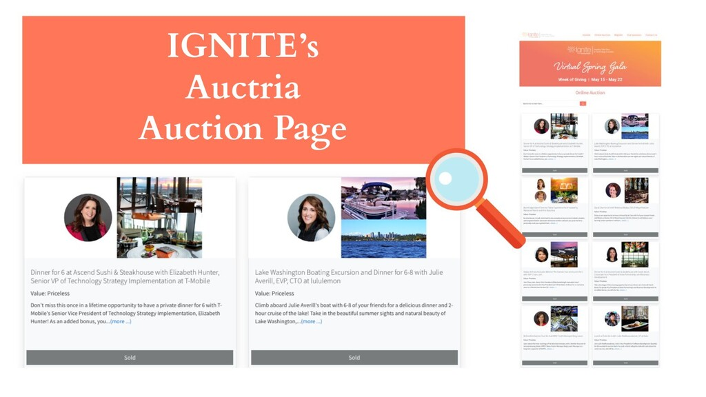 IGNITE's Auctria Auction Page