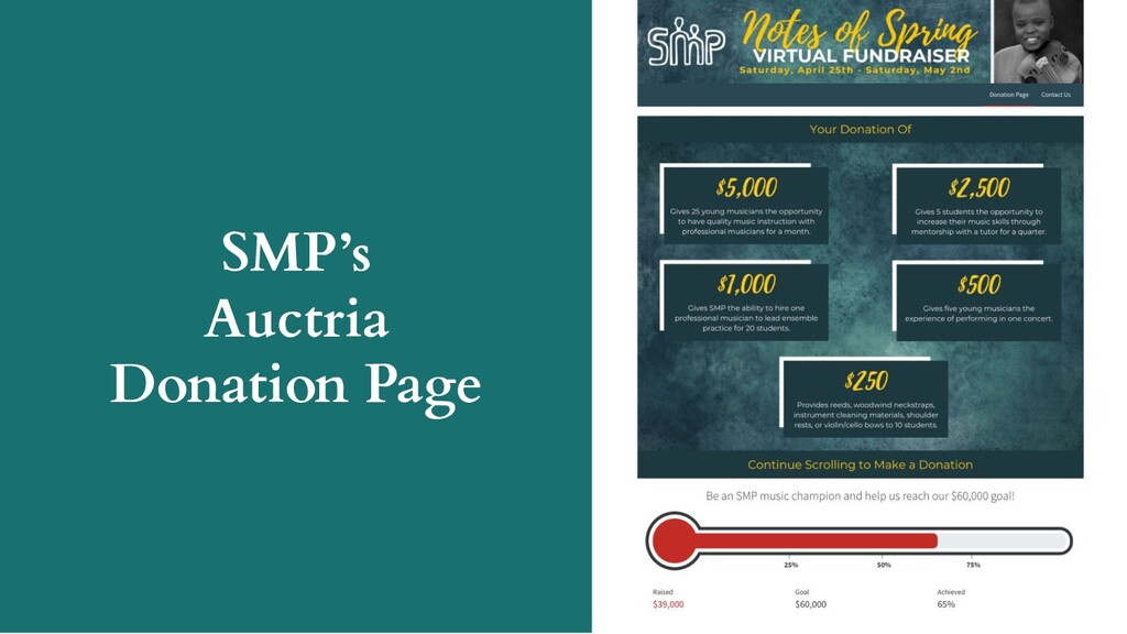 SMP's Auctria Donation Page