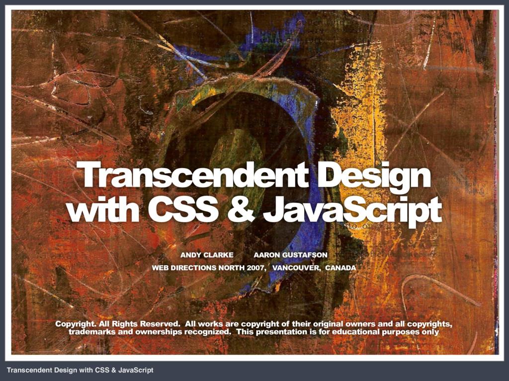 Transcendent Design with CSS & JavaScript CSS +...