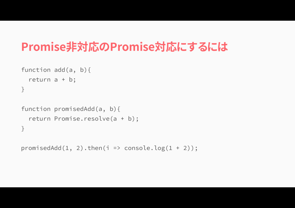 Promise非対応のPromise対応にするには GVODUJPOBEE BC \ ...
