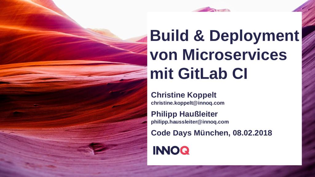 Build & Deployment von Microservices mit GitLab...