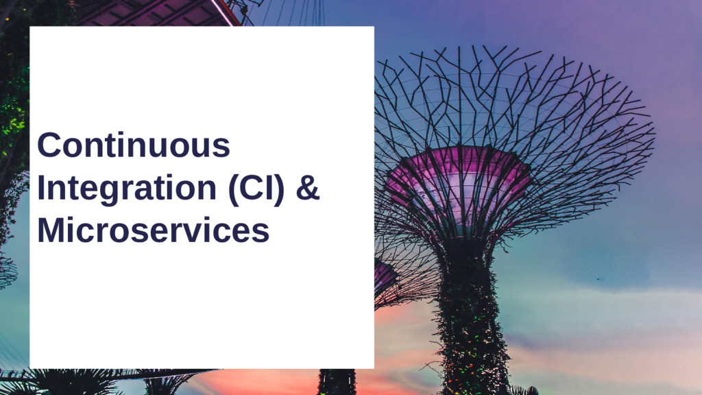 Continuous Integration (CI) & Microservices