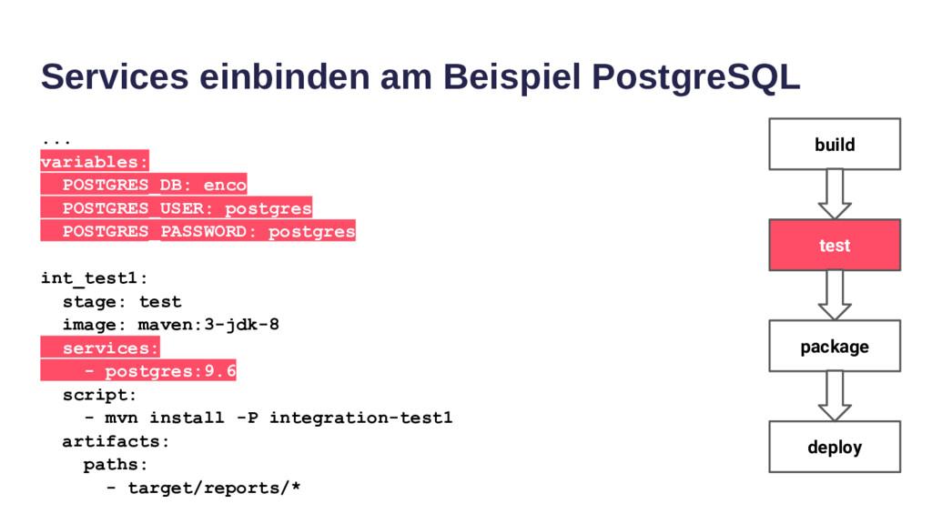 Services einbinden am Beispiel PostgreSQL ... v...