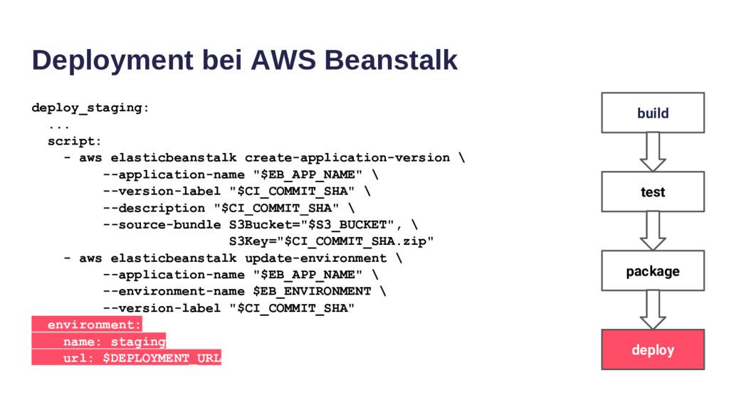 Deployment bei AWS Beanstalk deploy_staging: .....