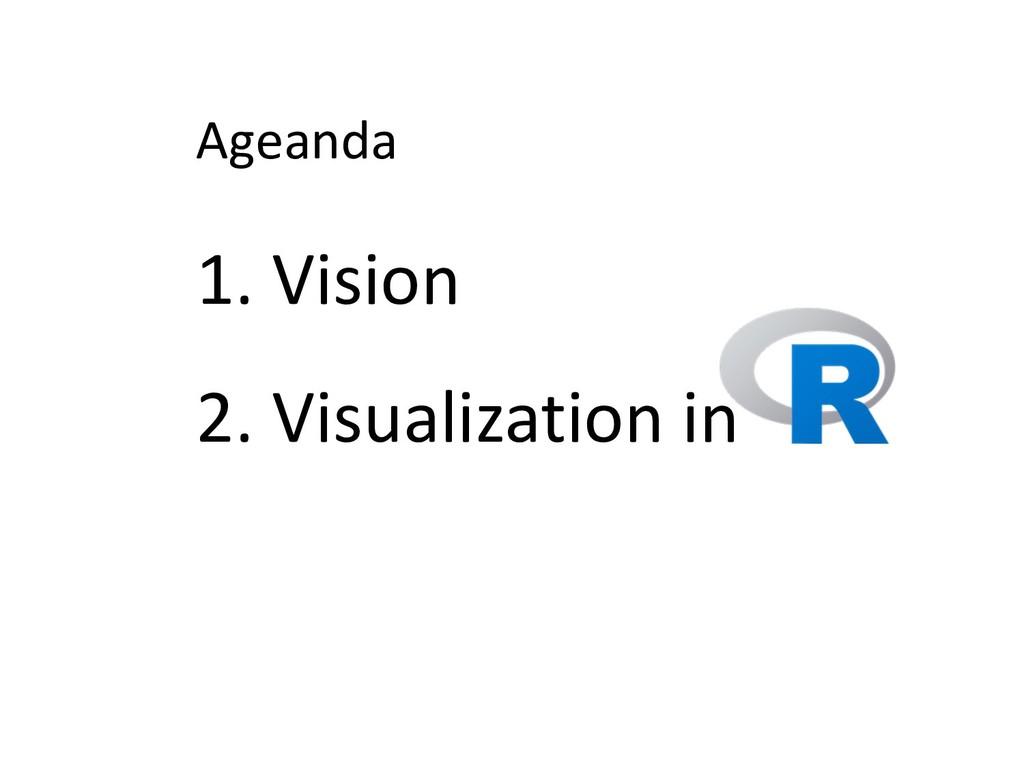 Ageanda 1. Vision 2. Visualization in