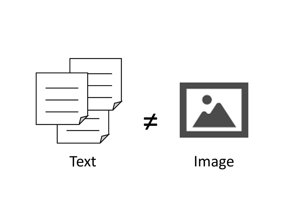 Text Image ≠