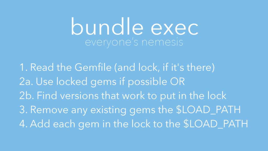 bundle exec everyone's nemesis 1. Read the Gemfi...