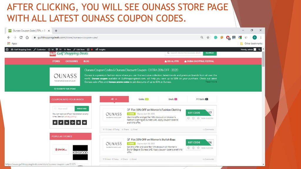 AFTER CLICKING, YOU WILL SEE OUNASS STORE PAGE ...