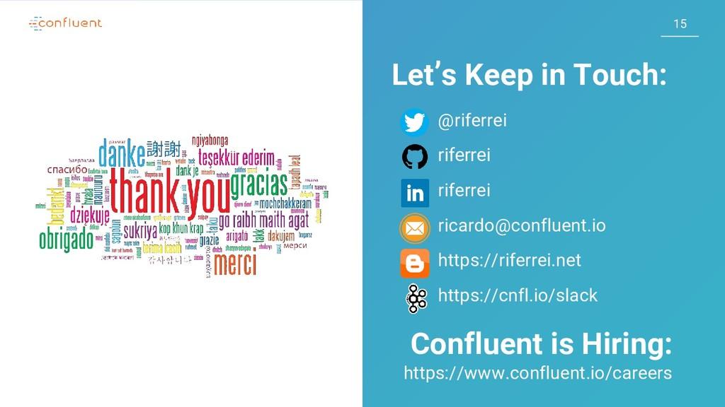 15 15 Let's Keep in Touch: @riferrei riferrei r...