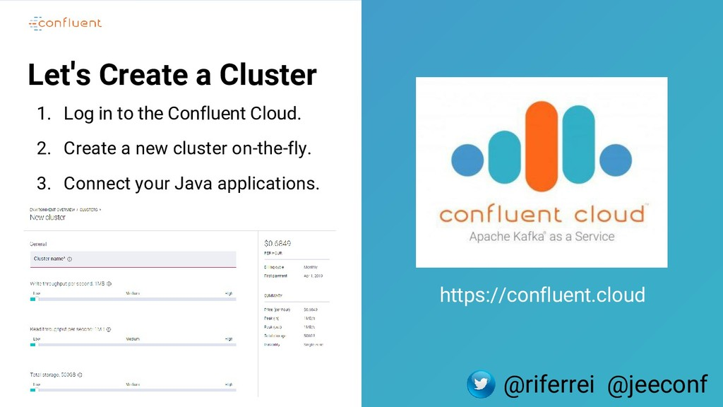 5 Let's Create a Cluster 1. Log in to the Confl...