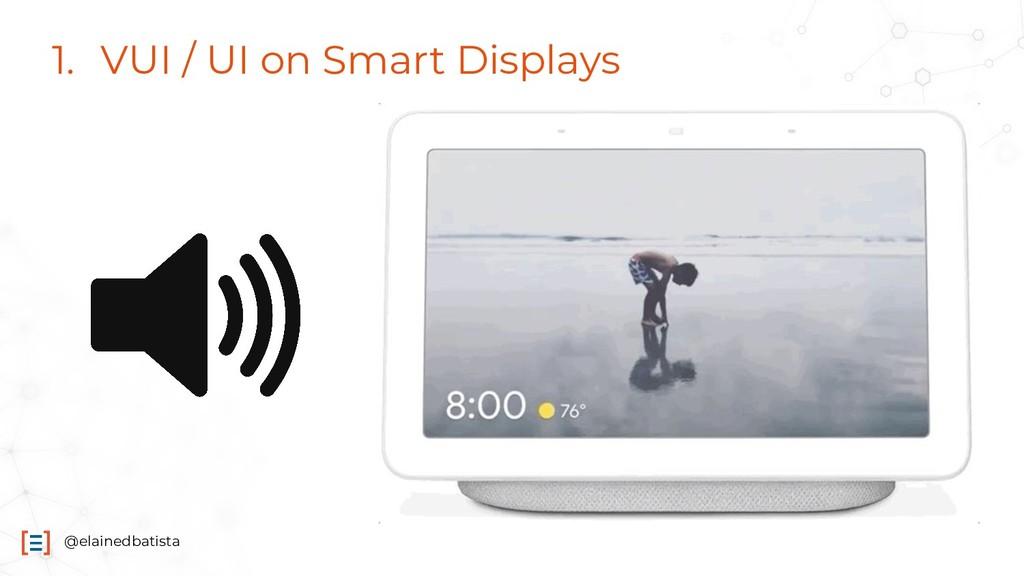 @elainedbatista 1. VUI / UI on Smart Displays