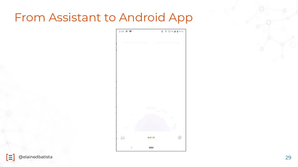 @elainedbatista From Assistant to Android App 29