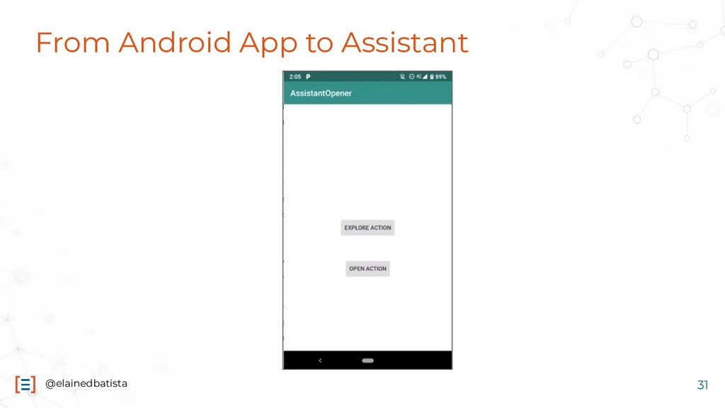 @elainedbatista From Android App to Assistant 31