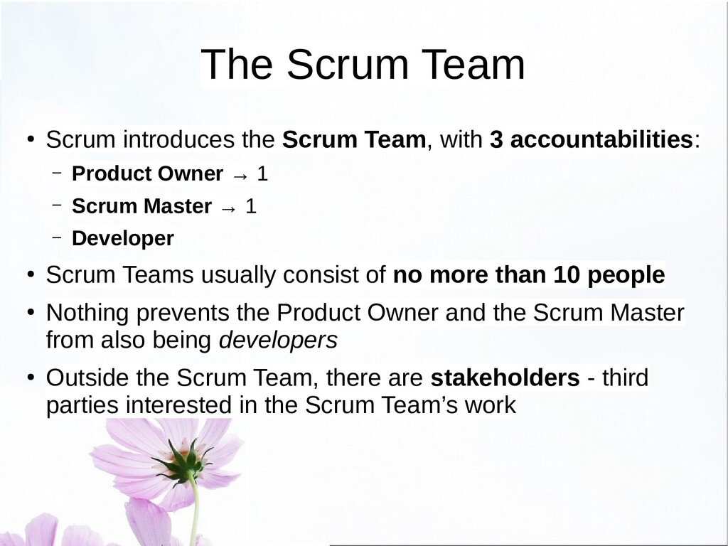 Definition of Done ● Scrum is empirical, so it ...