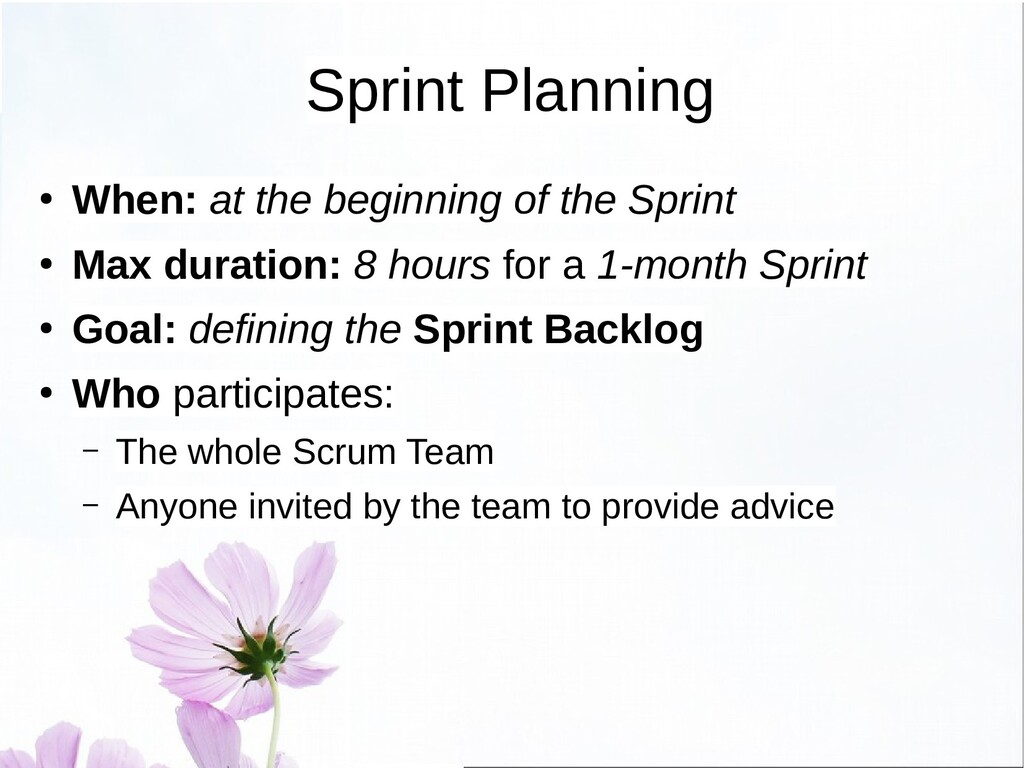 Sprint Planning – Phase 1 ● Phase 1: commitment...