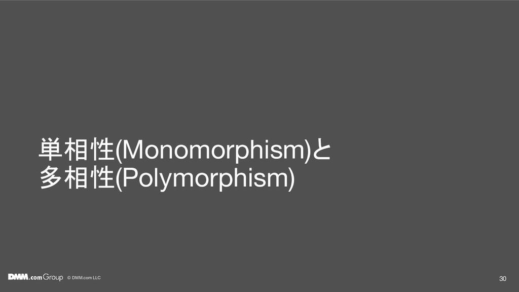 © DMM.com LLC 単相性(Monomorphism)と 多相性(Polymorphi...