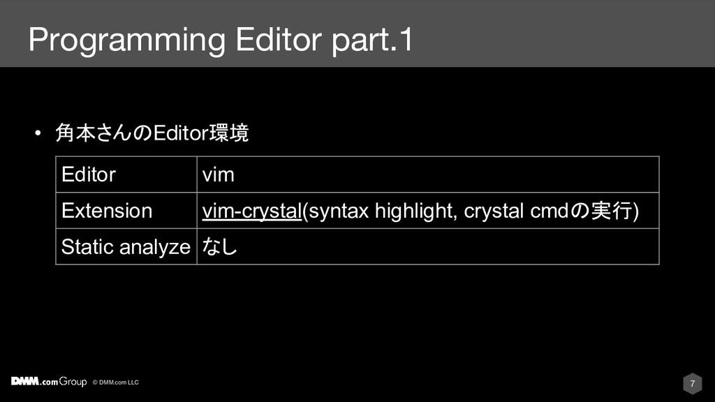 © DMM.com LLC Programming Editor part.1 • 角本さんの...