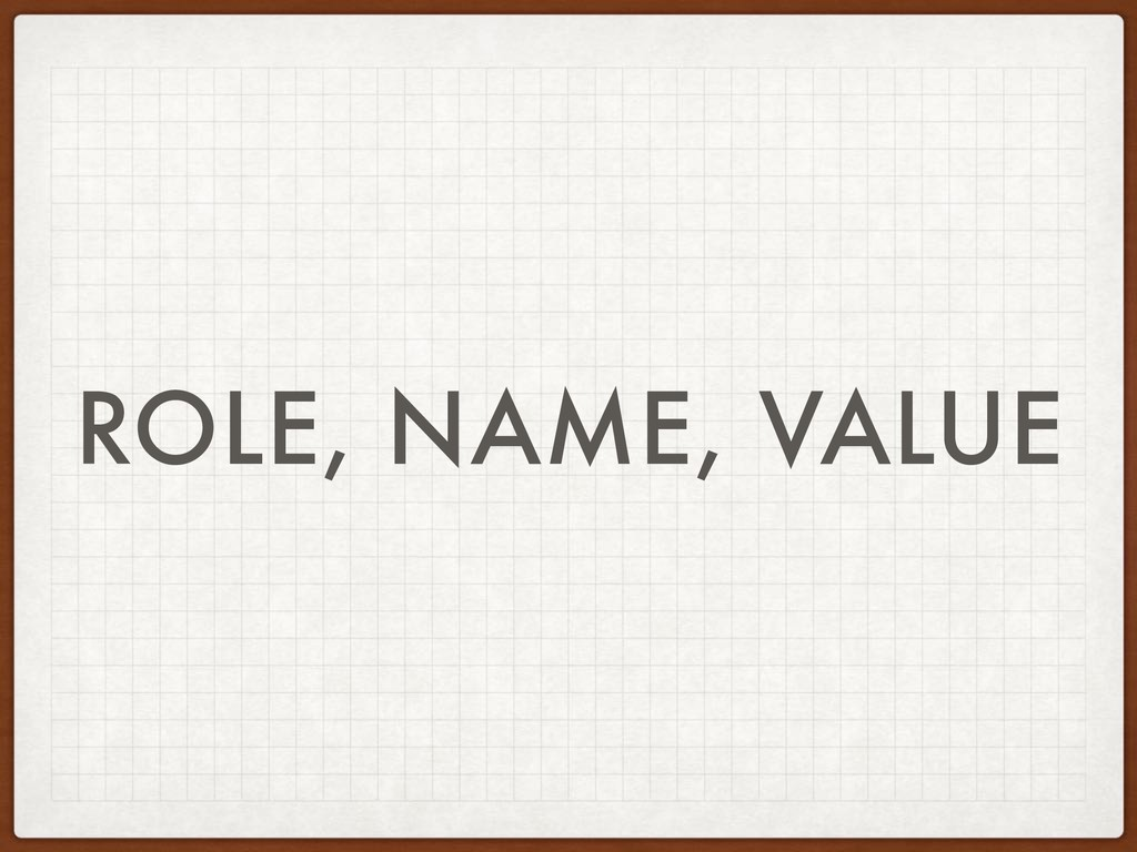 ROLE, NAME, VALUE