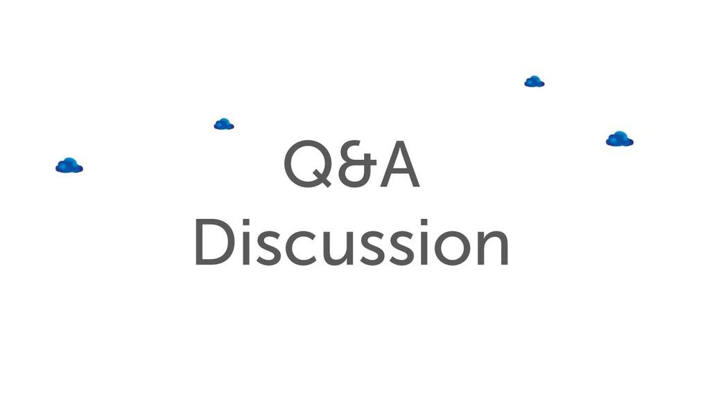 Q&A Discussion
