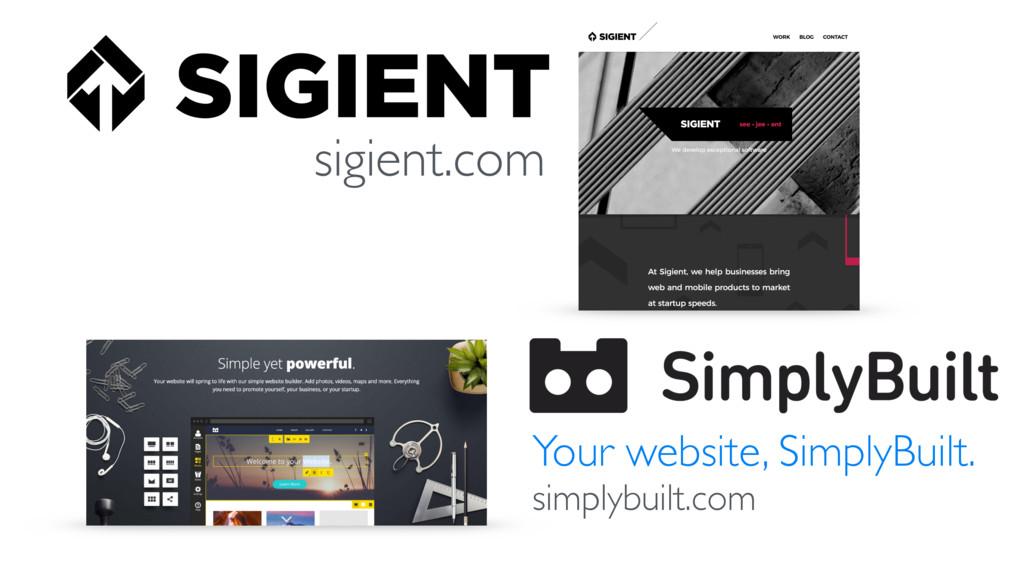 sigient.com Your website, SimplyBuilt. simplybu...