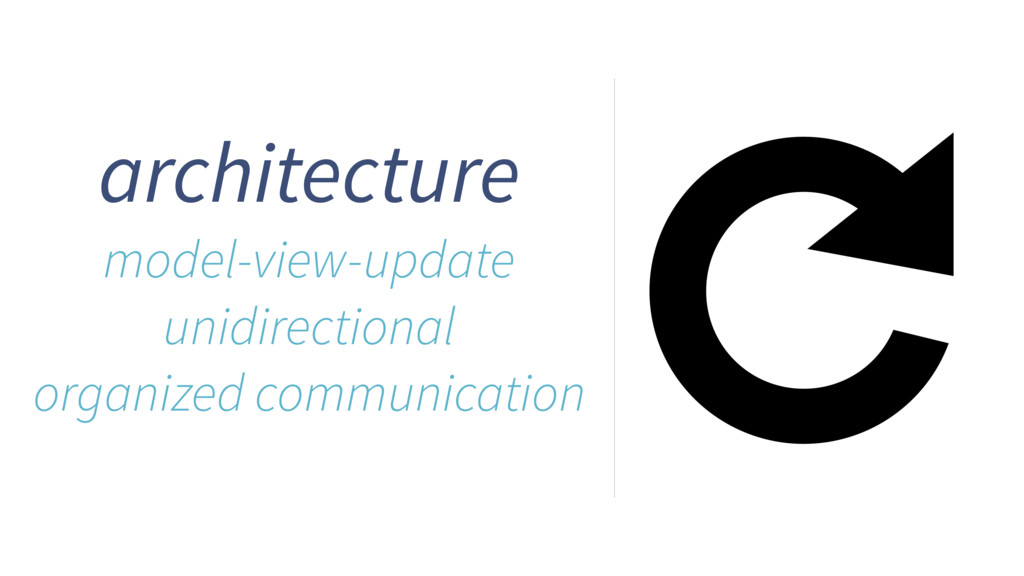 architecture model-view-update unidirectional o...