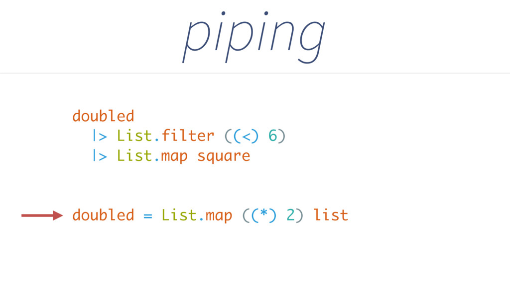 |> List.filter ((<) 6) |> List.map square pipin...