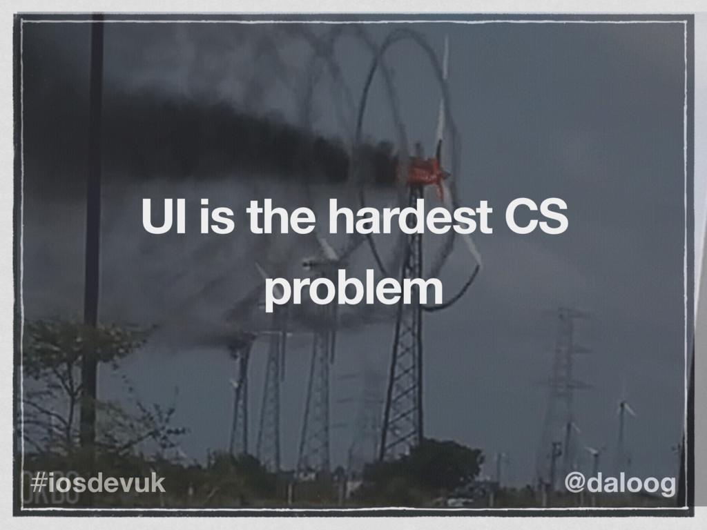 @daloog #iosdevuk UI is the hardest CS problem
