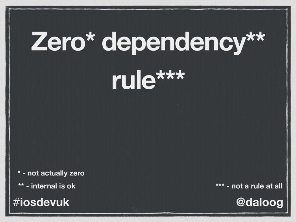 @daloog #iosdevuk Zero* dependency** rule*** * ...