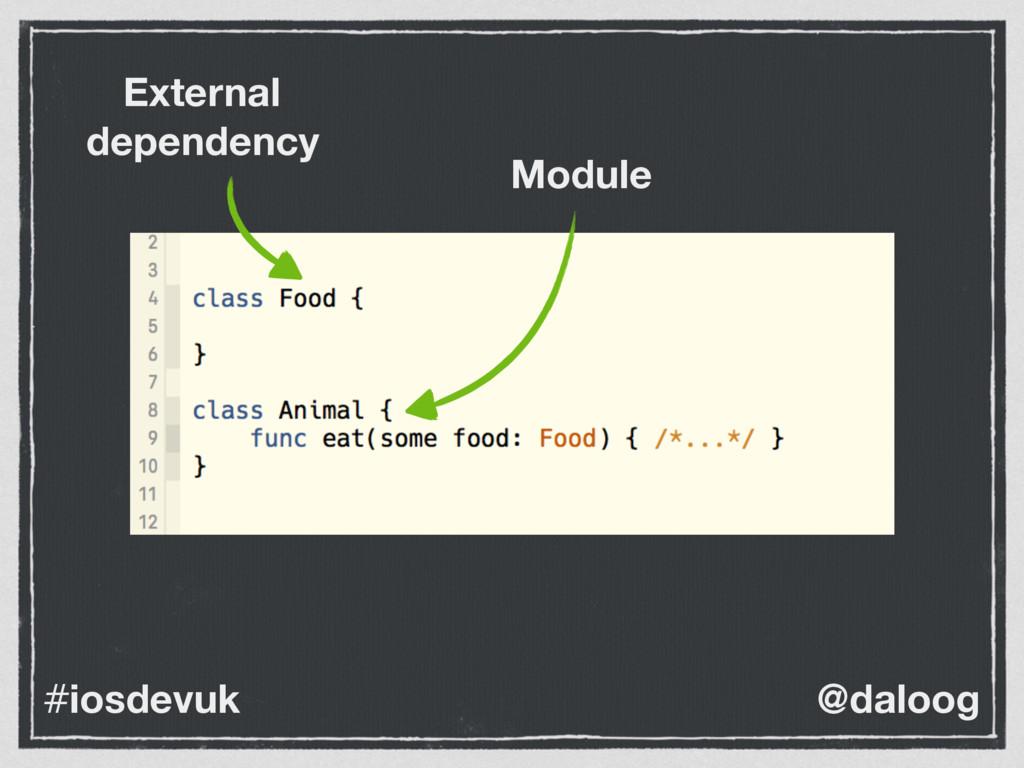 @daloog #iosdevuk Module External dependency